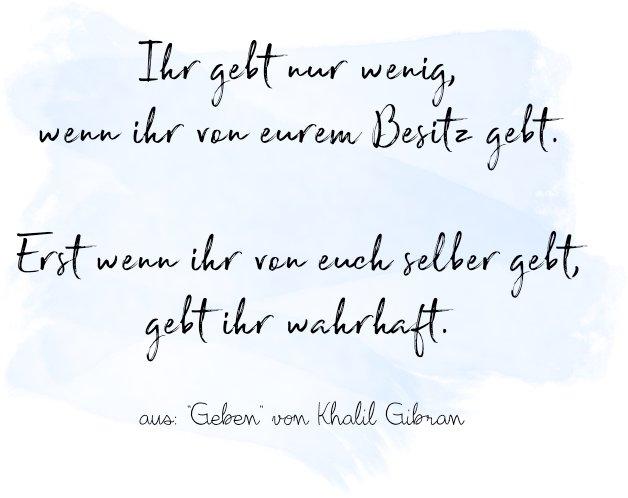 Khalil Gebran - Geben