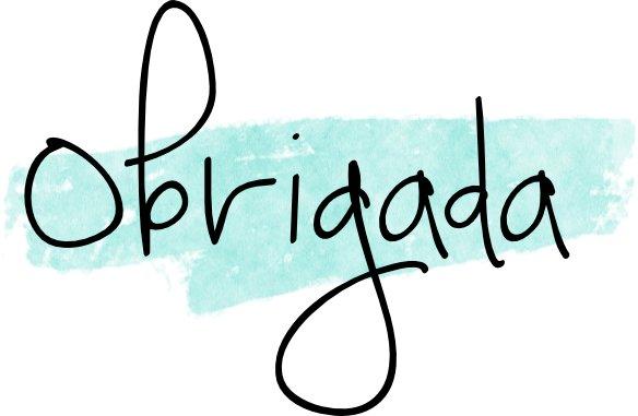 obrigada - Dankbar auf brasilianisch