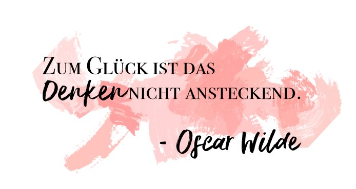 Denken Oscar Wilde
